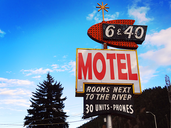 Vintage Motels. Cool signs, not so good on the actual motel part anymore....