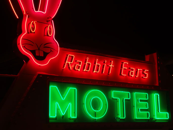 Rabbit Ears Motel text go here